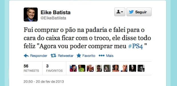 @EikeBatiiista (Foto: Reprodução/Twitter)