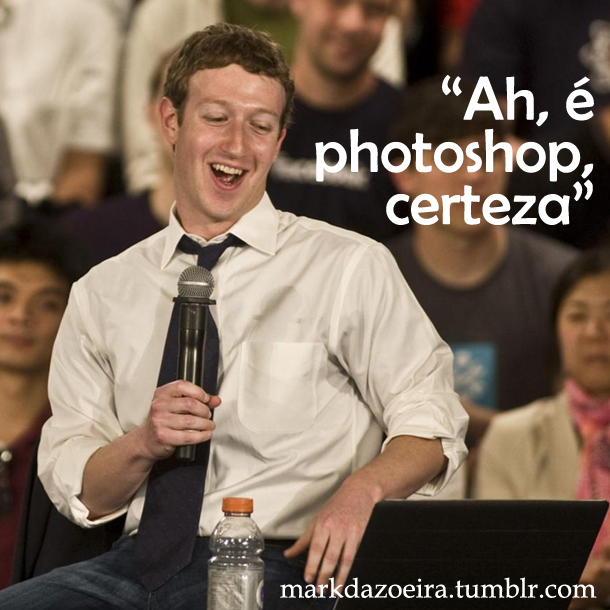 Aproveitando de fotos espontâneas os criadores do Tumblr inserem legendas que brincam com Mark (Foto: Divulgação/ markdazoeira.tumblr)
