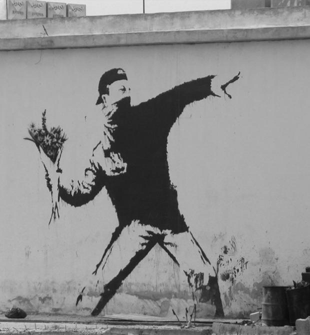 O conhecido grafite de Banksy (Foto: Reprodução/ Banksy)