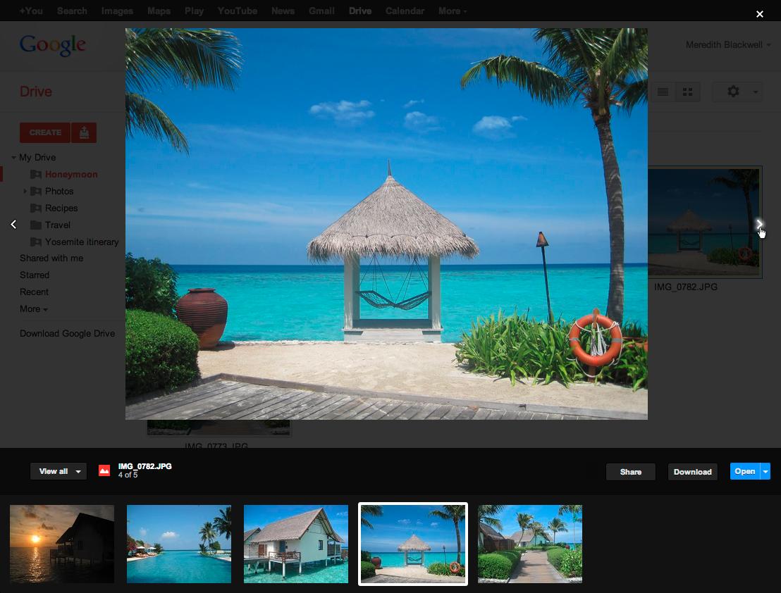 O novo recurso do Google Drive amplia a experiência da visualização dos arquivos (Foto: Divulgação/ Google Drive Blog)