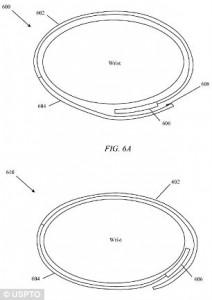 A pulseira do iWatch será dobrável como a de alguns relógios de pulso atuais (Foto: Reprodução/Daily Mail)