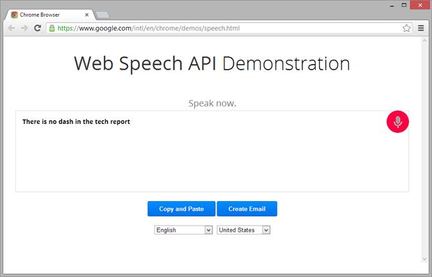 Com o comando de voz do Google Chrome versão 25 basta falar no microfone para realizar buscas (Foto: Reprodução)