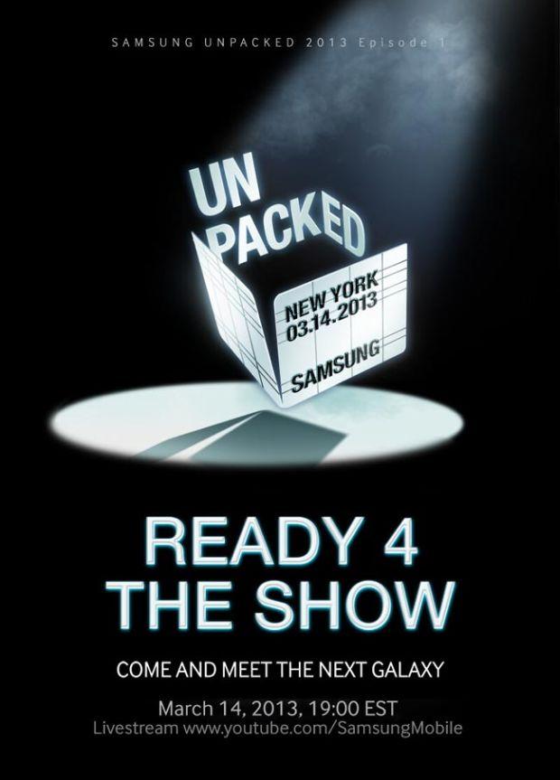 Cartaz do evento do Galaxy S4 divulgado pela Samsung no Twitter (Divulgação)