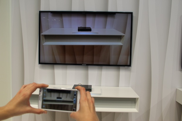 Samsung Galaxy S III sincronizado com o HomeSync (Foto: TechTudo/Fabrício Vitorino)