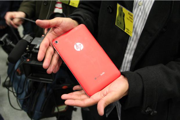 Slate 7 é apresentado pela HP na MWC 2013 (Foto: TechTudo/Fabrício Vitorino)