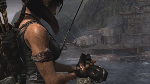 Lara Croft terá que encontrar peças para melhorar suas armas através da aventura (Foto: Divulgação)