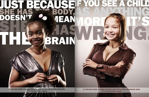Anúncio contra estupro da cidade de Milwaukee, EUA (Foto: Reprodução)