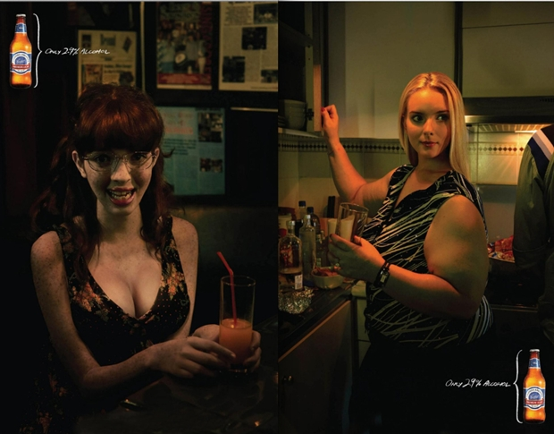 Uso de Photoshop na propaganda da Coopers Light Lager (Foto: Reprodução)