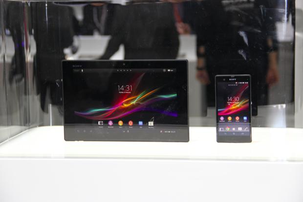 Os novos lançamentos da Sony no MWC 2013 (Foto: TechTudo/Fabrício Vitorino)