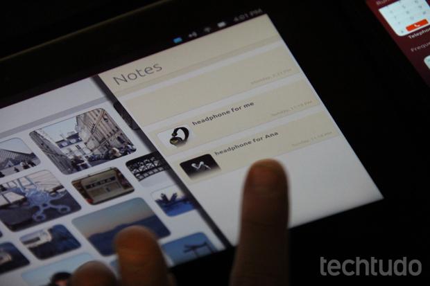 O Ubuntu para tablets é um sistema bonito e com recursos poucos explorados pela concorrência (Foto: Allan Melo/TechTudo)