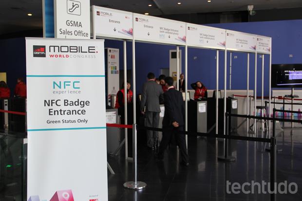 Variedade de uso do NFC de smartphones é um dos pontos altos do MWC (Foto: Fabrício Vitorino/TechTudo)