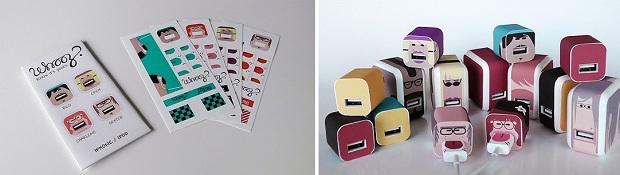 Site Whooz? é especializado em adesivos para carregadores da Apple (Foto: Divulgação/Whooz?)
