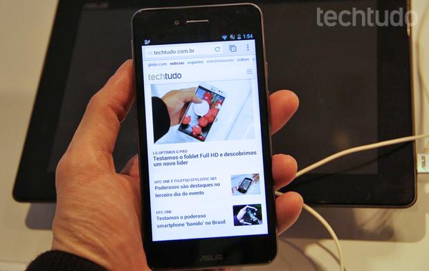 Asus Padfone Infinity é um smartphone top de linha com Android (Foto: Fabrício Vitorino/TechTudo)