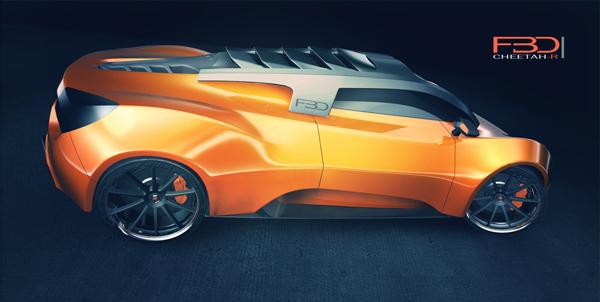 O Cheetah-R foi baseado na anatomia do leopardo (Foto: Reprodução/Yanko Design)
