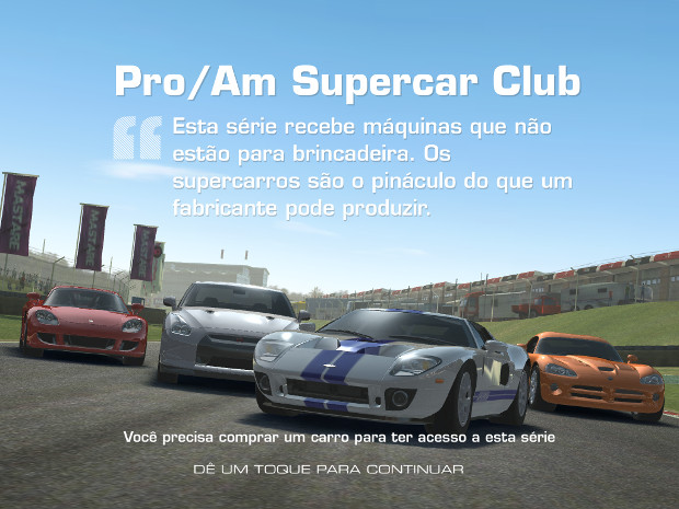 Fácil de jogar e totalmente em português, este é Real Racing 3 (Foto: Reprodução)