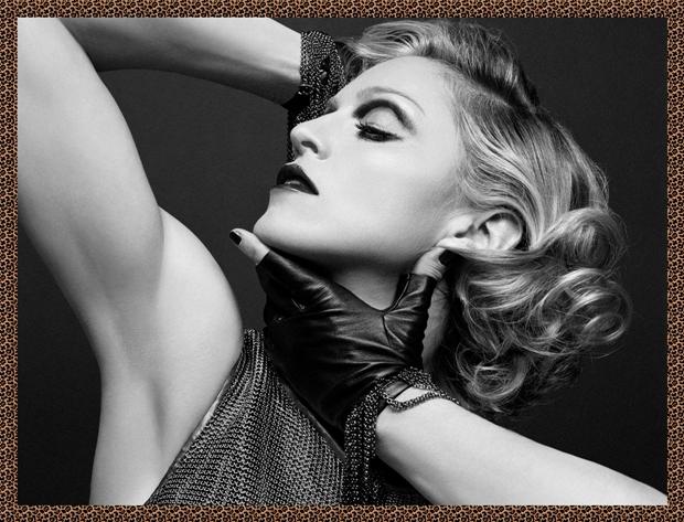 Foto de Madonna com borda de onça, criada no Gimp (Foto: Reprodução/Raquel Freire)