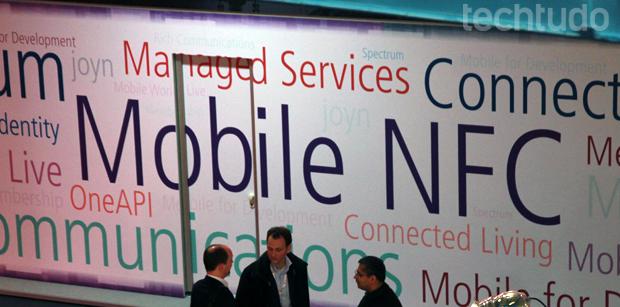 A conectividade NFC foi um dos grandes destaques do MWC 2013 (Foto: Allan Melo/TechTudo)