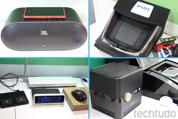 Variedade de dispositivos NFC apresentados na feira foi grande (Foto: Allan Melo/TechTudo)