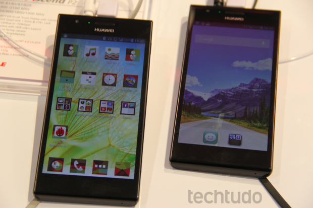 O Ascend P2 vem com câmera de 13 megapixels e Android 4.1 Jelly Bean (Foto: Fabrício Vitorino/TechTudo)