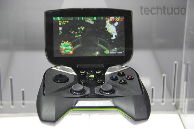 Project Shield foi exibido no MWC, mas passou longe das mãos dos gamers (Foto: Fabrício Vitorino/TechTudo)