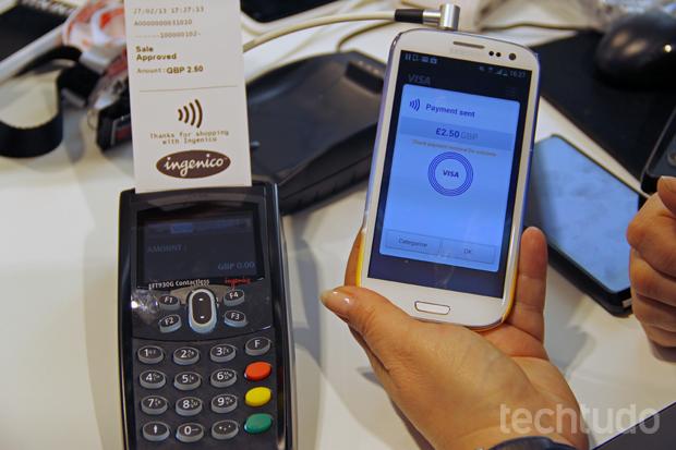 Novo sistema da Samsung oferece pagamento através do smartphone (Foto: Fabrício Vitorino/TechTudo)