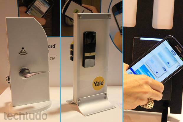 Usuários podem usar NFC dos smartphones para entrar em ambientes (Foto: Allan Melo/TechTudo)