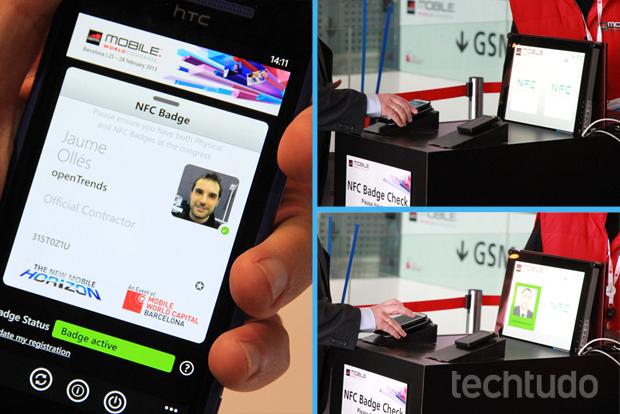 Crachás com NFC reduziam o tempo gasto por usuários em filas (Foto: Allan Melo/TechTudo)