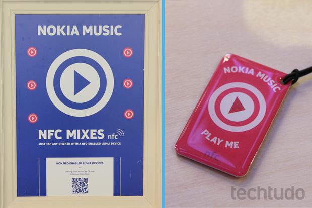 Tags da Nokia continham playlists de músicas (Foto: Allan Melo/TechTudo)