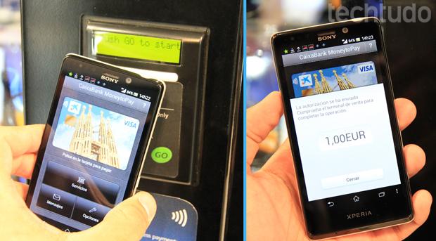 Novo sistema da Visa e Samsung oferece pagamentos via smartphone (Foto: Allan Melo/TechTudo)