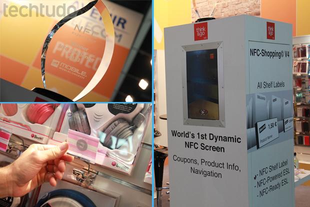 Tags NFC oferecem interação do usuário com o vídeo (Foto: Allan Melo/TechTudo)