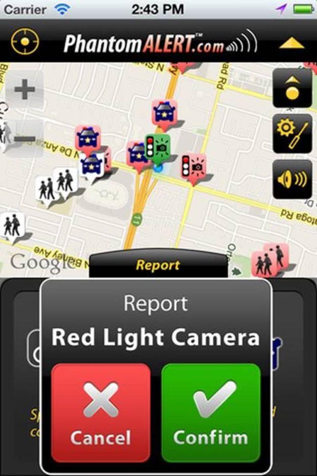 PhantomAlert traz localização de seguranças para facilitar delitos, de maneira bem controversa (Reprodução|Oddee)