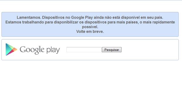 Ainda não é possível comprar um Chromebook na versão brasileira da Google Play (Foto: Reprodução/Edivaldo Brito)