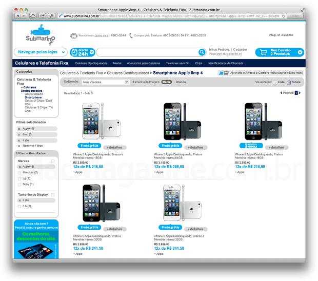 iPhone 5 está sendo vendido online desbloqueado (Foto: Reprodução/MacMagazine)