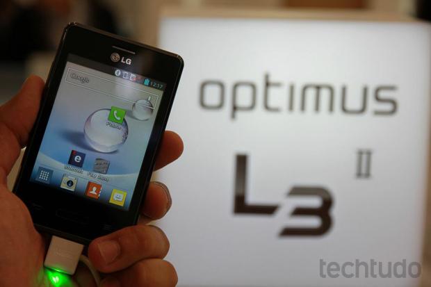 LG Optimus L3 II terá lançamento no Brasil antes do restante do mundo (Foto: Allan Melo/TechTudo)