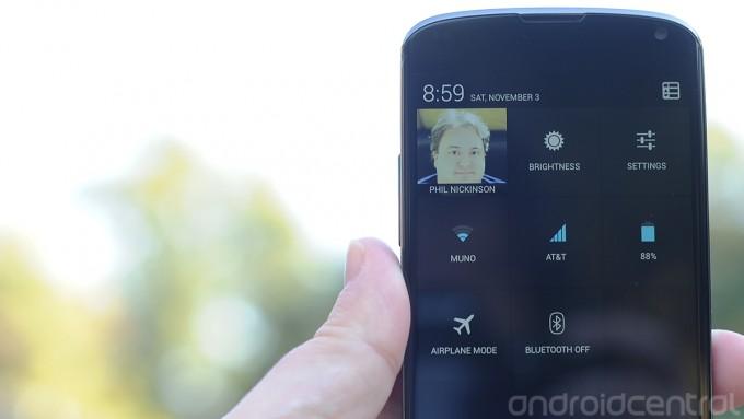 Quick settings do Android 4.2 são muito práticas (Foto: Reprodução/Android Authority)