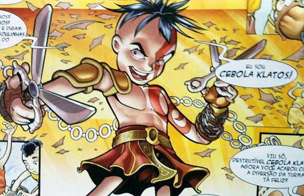 Cebola-Kratos, o destruidor de gibis, criação de André Vazzios (Foto: forum.playstationblast.com.br)