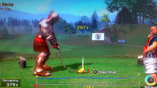 Algumas pessoas questionaram a presença de Kratos em um jogo familiar (Foto: psu.com)