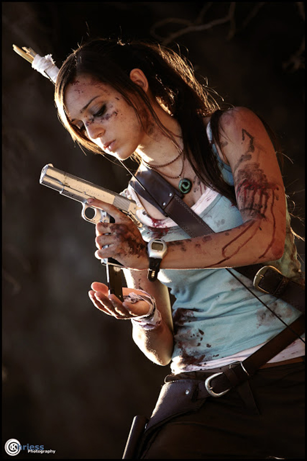 Illyne experimenta com o novo design de Lara Croft em Tomb Raider (Foto: Guitarse Gaming)