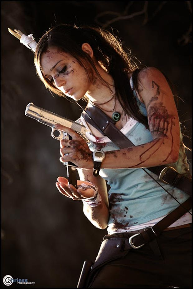 Illyne experimenta com o novo design de Lara Croft em Tomb Raider (Foto: Guitarse Gaming)