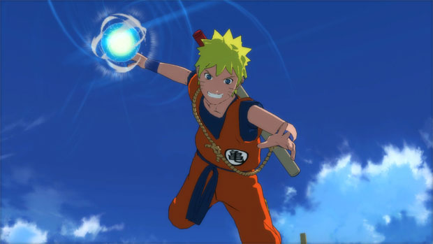O herói se veste de Goku, de Dragon Ball, no novo game (Foto: Divulgação)