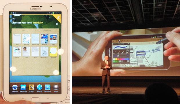 Tablet Galaxy Note 8.0 foi um dos destaques do Samsung Forum (Foto: Nick Ellis/TechTudo)