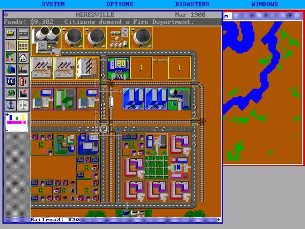 SimCity original tinha visão superior (Crédito: Sandro Massarani/massarani.com.br)