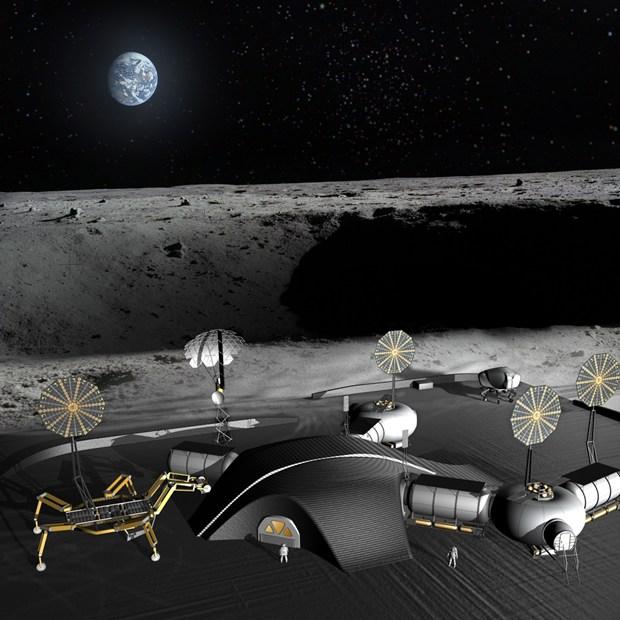 Projeto da NASA para construir uma base lunar é mais desenvolvido que o da ESA (Foto: Reprodução/ Wiked