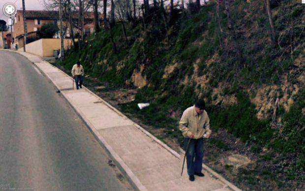 Idoso duplicado no Street View (Foto: Reprodução|BuzzFeed)