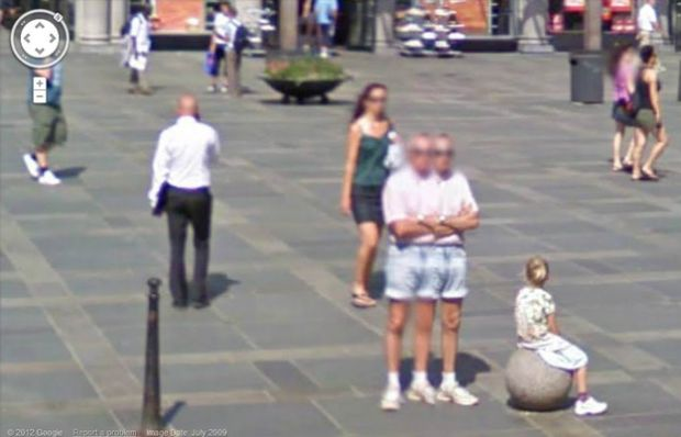 Homem com dois corpos no Street View (Reprodução|BuzzFeed)