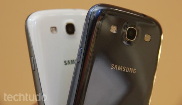 Samsung Galaxy S3 funciona com o 4G brasileiro (Foto: Allan Melo / TechTudo)