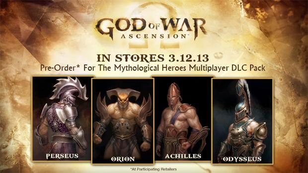 Heróis mitológicos invadirão o multiplayer de God of War: Ascension neste DLC (Foto: Divulgação)