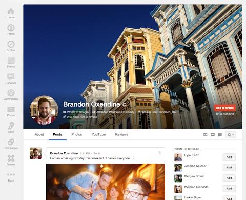 Google+ ganha foto de capa com tamanho maior