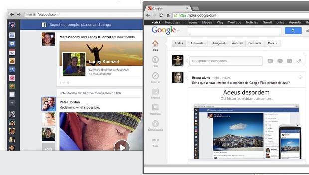Usuário do Google+ comenta sobre novo layout do Facebook (Foto: Reprodução/Google+ Bruno Alves)