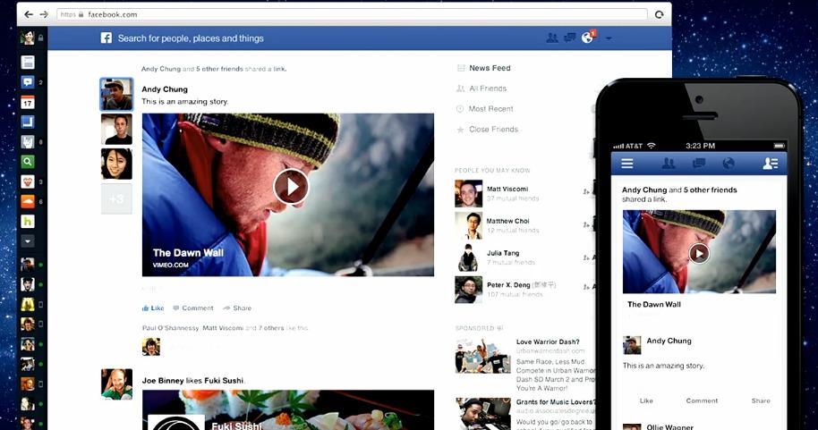 Novo Feed de Notícias apresentado por Mark Zuckerberg (Foto: Reprodução/Facebook)